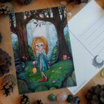 tyttö metsässä
